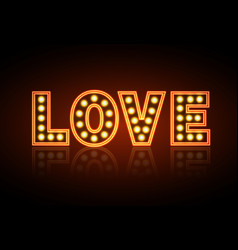 Neon sign love happy valentines day typography vector