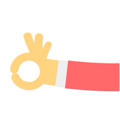 ok hand gesture in flat design vector image vector image