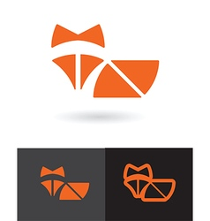 orange fox symbol vector image