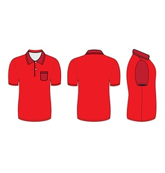 polo shirt design templates vector image