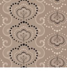 seamless wallpaper in coffe colors vector image