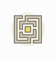 Square maze or labyrinth colorful icon vector