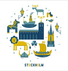 Stockholm icons in the form of circle vector