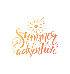 Summer adventure poster vector
