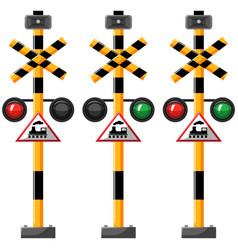 Traffic lights for train vector