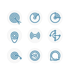 Trendy circle icon set Design elements vector image