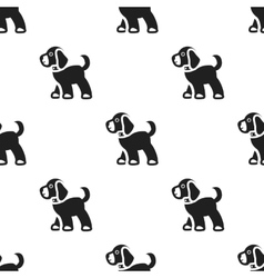 Walking the dog icon in black style for web vector