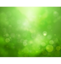 Green lights background vector image
