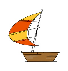 A floating sailing vector