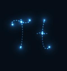 glow abc vector image