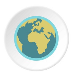 Blue planet earth icon circle vector