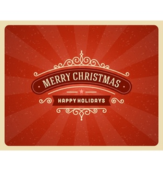 Merry christmas postcard ornament vector