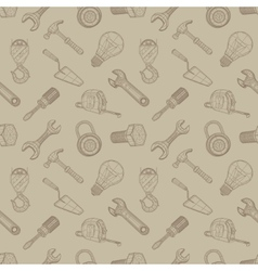 Tools drawing seamless background vector