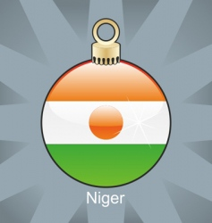 Niger flag on bulb vector
