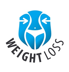 Logo weight loss waist vector
