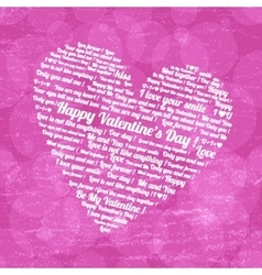 Pink heart on valentines day vector