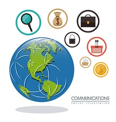 Global communications design vector