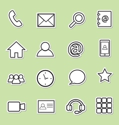 Communication sticker icons vector