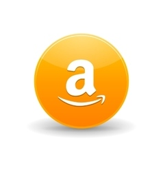 Amazon alt icon in simple style vector