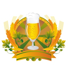 Beer mug in a vignette vector image