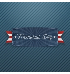 Memorial day greeting banner with text vector