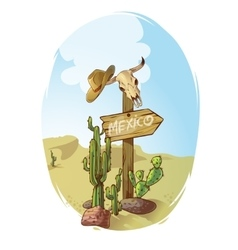 Wild west sign poster vector