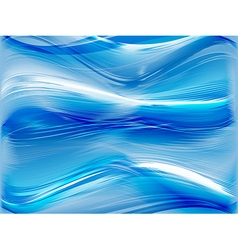 Blue abstract background with waves vector