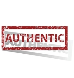 Authentic outlined stamp vector