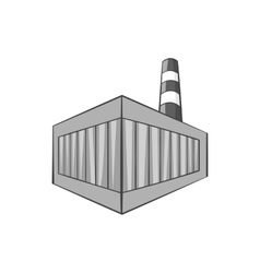 Beer bottling building icon monochrome style vector