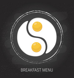 breakfast menu concept vector image