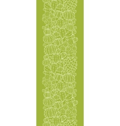 Cactus plants vertical seamless pattern background vector