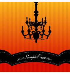 chandelier background vector image