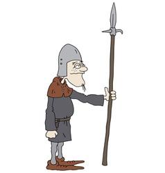 Funny warrior vector image