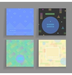 Geometry chaotic backgrounds set for covers vector image vector image