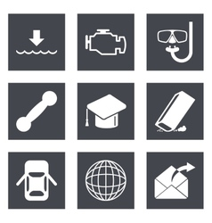 Icons for Web Design set 17 vector image vector image