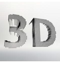 inscription-3D of 3D word vector image