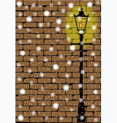 Lamplight christmas vector