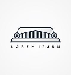 Limousine logotype theme vector