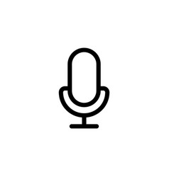 line microphone mic icon on white background vector image vector image