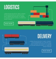 Logistics and delivery banner set vector
