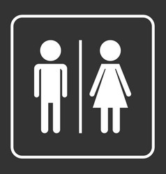 Man and woman icon on black background modern vector