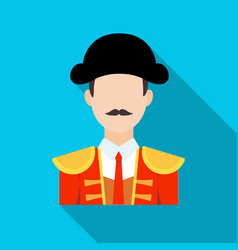 Matador icon in flate style isolated on white vector