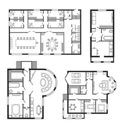 modern office architectural plan interior vector image vector image