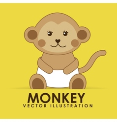 monkey cute vector image