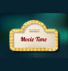 Movie time cinema premiere poster design vector