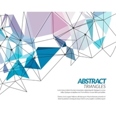 polygonal triangle abstract shapes techno vector image vector image