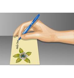 postcard writing vector image vector image