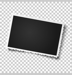Retro realistic photo frame with figured edges vector