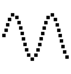 Sinusoid toolbar icon vector