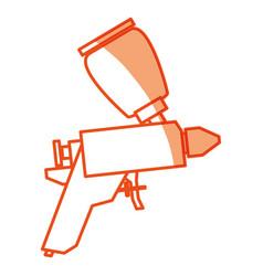 spray paint gun vector image